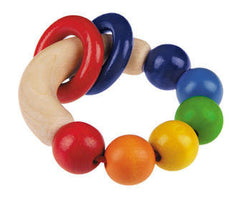 Rondello wood teething rattle for baby