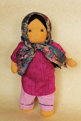 Small Steiner Doll- Headscarf Wearing Girl