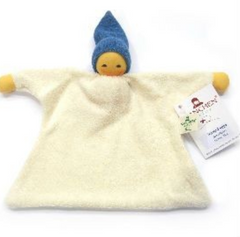 Nanchen Organic Sack Doll with with Blue Hat 21cm