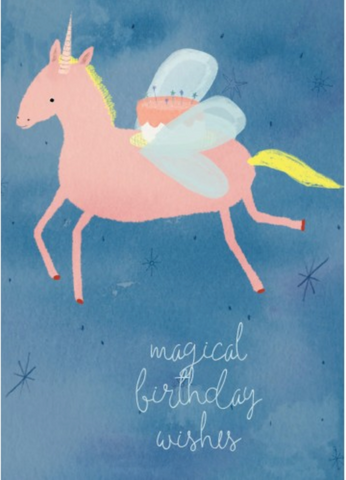 Greeting Card - Magical Birthday Wishes Unicorn