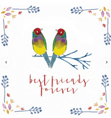 Greeting Card - Jess Racklyeft - Australian Gouldian Finch