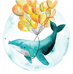 Greeting Card - Balloon Whale MC 8
