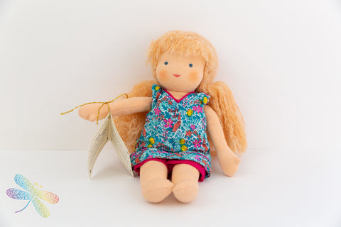 Small Steiner Doll- Girl with light curly hair  Dragonfly Toys