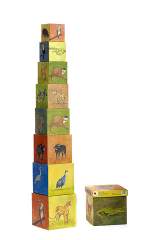 Pyramid Stacking Cubes - Jungle Scene