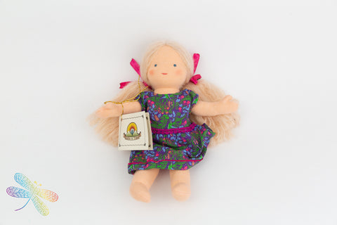 Small Steiner Doll- Girl Blond Hair, Dragonfly Toys