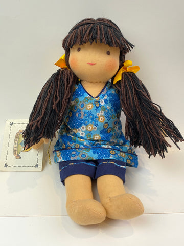 Small Steiner Doll- Dark Brown Hair with Fringe,Dragonflytoys
