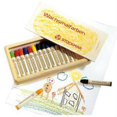 Stockmar 16 Stick Crayons in Wooden Box