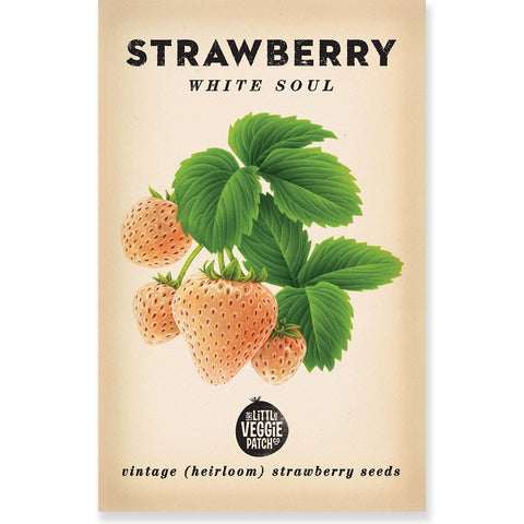 Heirloom Flower Seeds - Strawberry White Soul  Seeds
