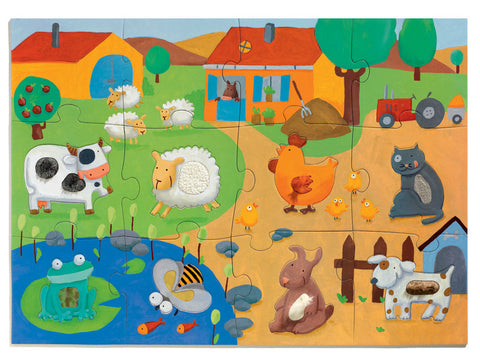 Tactile Farm Puzzle 20 Pieces