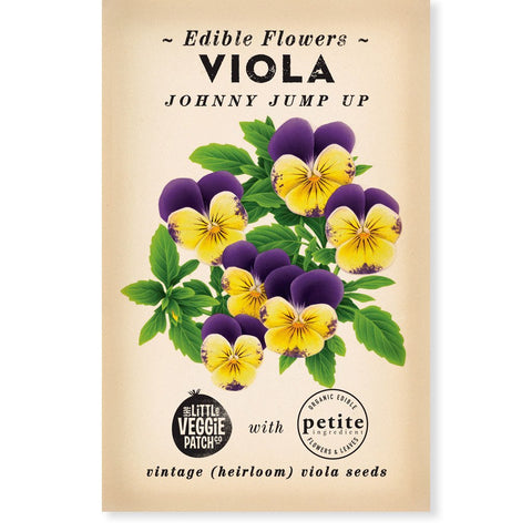 Heirloom Flower Seeds - Johnny Jump Up Violet Seeds