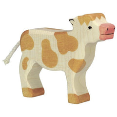 Wooden Calf, Standing, Brown Holztiger