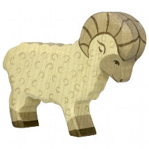 Wooden Sheep Ram Holztiger, Dragonfly Toys