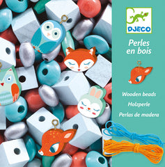 Wooden Bead with Little Animals by Djeco