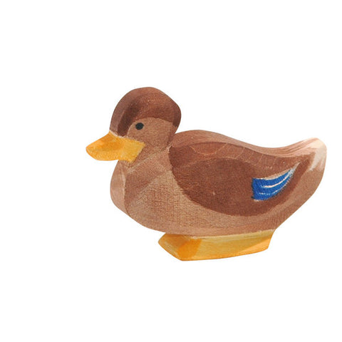 Wooden Duck Sitting (13213) - Ostheimer