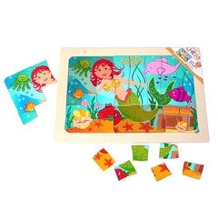 Wooden Mermaid Puzzle