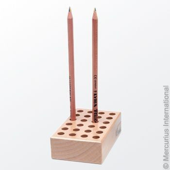 Wooden Pencil Holder for 24 Pencil