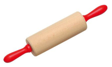 Wooden Rolling Pin with Red Axle
