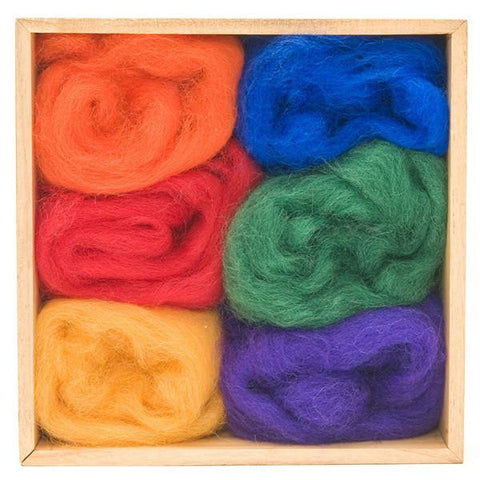 Wool Roving Rainbow Colours Pack