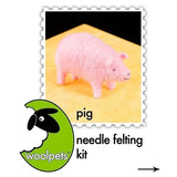 Needle Felted Kit - Pig