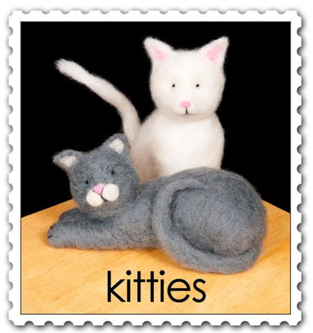 Woolpets Felting Kits - Kitties