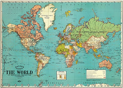 Cavallini & Co Wrap - The World Map