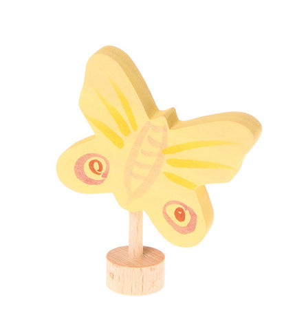 Yellow Butterfly Grimms Advent and Birthday Ring Decoration