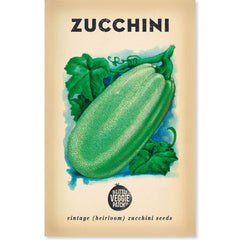 Heirloom Flower Seeds - Zucchini Black Beauty Seeds