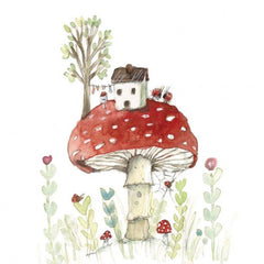 Greeting Card - Mushroom Home