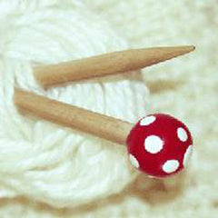Wooden Knitting Needle 5mm X 20cm