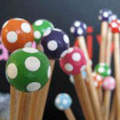 Wooden Knitting Needles 5mm X 30 cm