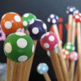 Wooden Knitting Needle 4mm X 30cm
