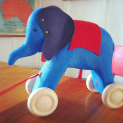 Pull Along Blue Elephant