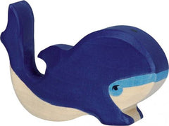 Wooden Blue Whale Small Holztiger