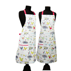 Organic Cotton Child's Apron with Chicken Motif