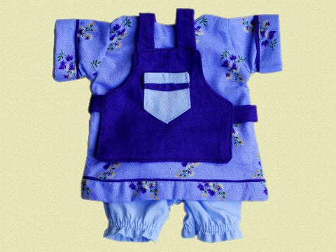 Large Doll Apron, Dress and Bloomers