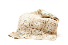 Crochet Patchwork Blanket - Cream