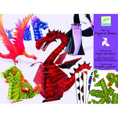 Dragon Chimerara Paper Toys