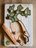 Drei Blatter, Carrot, Wooden Puzzle, Toddler, Dragonfly Toys