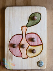Drei Blatter, Apple, Wooden Puzzle, Toddler, Dragonfly Toys