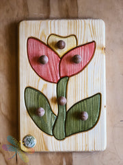 Drei Blatter, Flower, Wooden Puzzle, Toddler, Dragonfly Toys