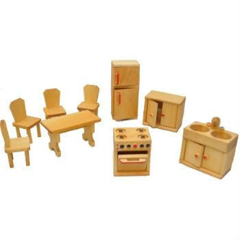 Dolls House Furniture - Kitchen and Dining  Set by Drei Blatter