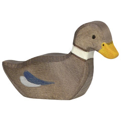 Wooden Duck Swimming Holztiger