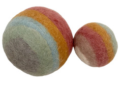 Natura Earthl Rainbow Felt Ball set by Papoose