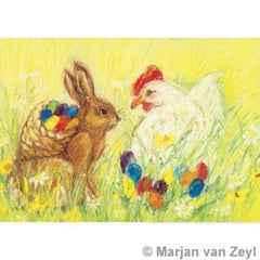 Easter eggs post card, Dragonflytoys