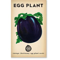 Heirloom Flower Seeds - Eggplant Florida Market