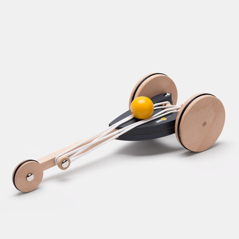 Elastic Driven Wooden Cart
