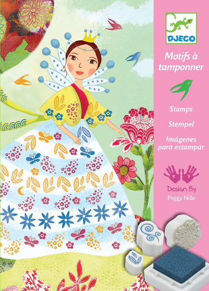 Djeco Flower Maiden Stamps Dragonfly Toys