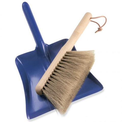 Gluckskafer Blue Dustpan And Brush