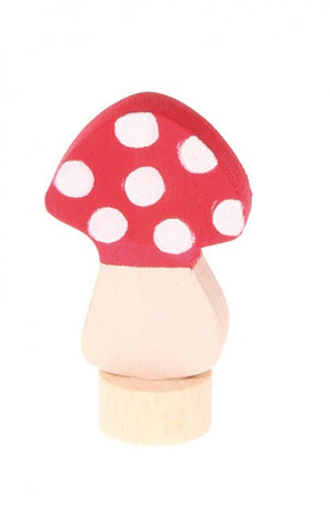 Grimms Birthday and Advent Ring Decoration - Mushroom