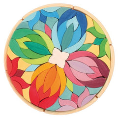 Large Lara Mandala Wooden Puzzle by Grimms